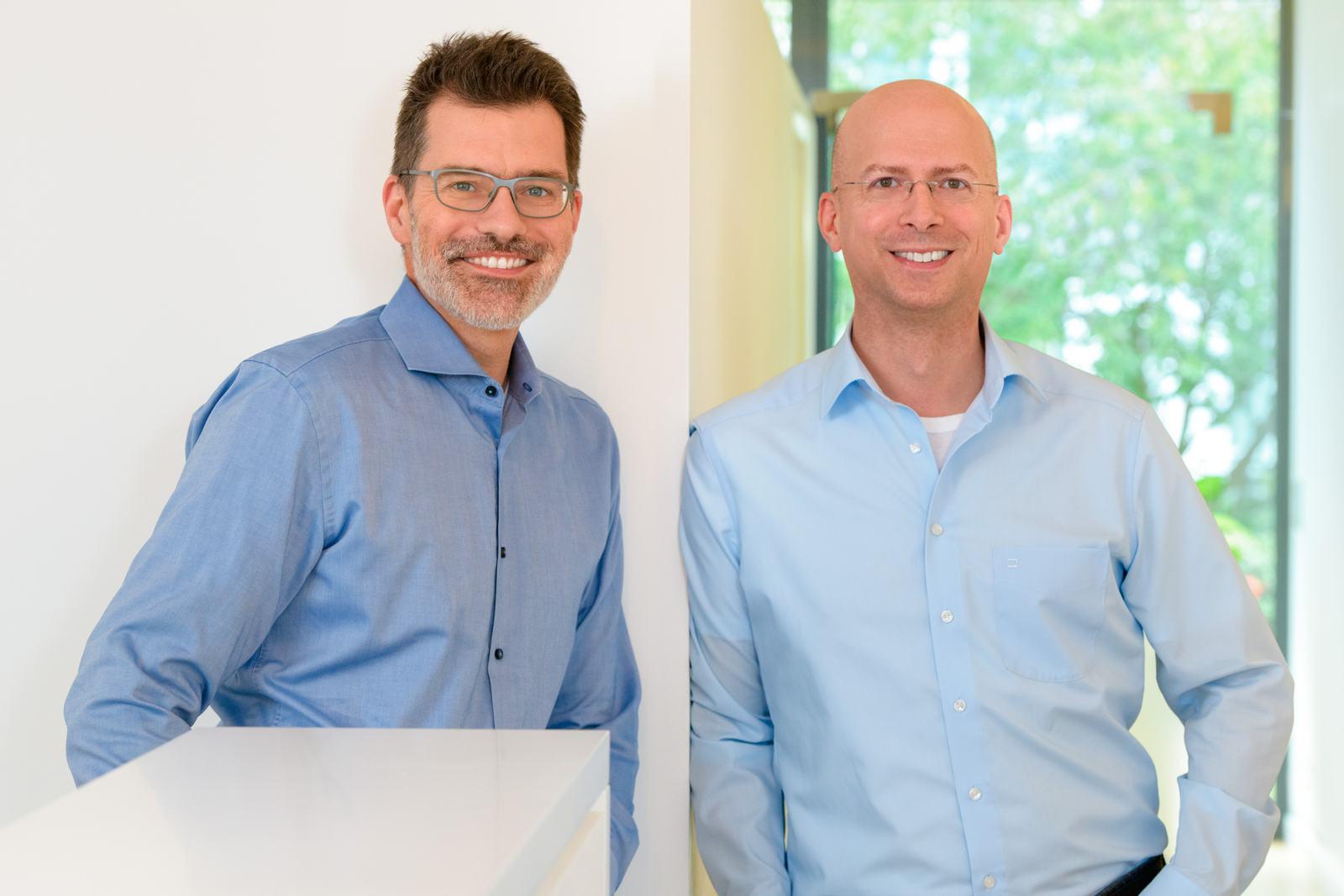 Foto. Dr. Richrath und Herr Wüst